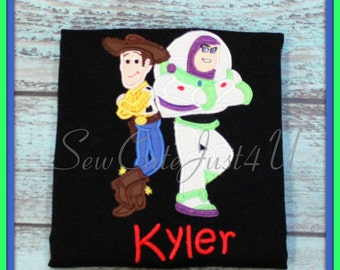 Toy Story- Buzz and Woody Personalized Shirt
