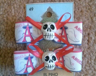 Angels baseball bows