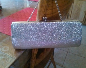 silver vintage clutch retro rockabilly