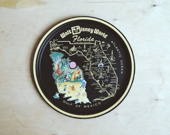 Tin Retro Florida Disney Tray