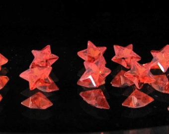 10 piece of loose star cut orange CZ gemstone 10.7 ct (LOT07)