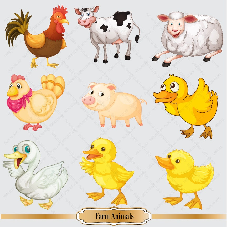 clipart pictures farm animals - photo #22