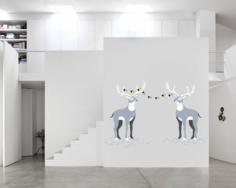 Wall Vinyl Deer Decal - Large Wall Decals - Nursery Wall Decal - Custom Decals  - Deer Wall Decal - Vinyl Wall Decals - Awesome decals / 080