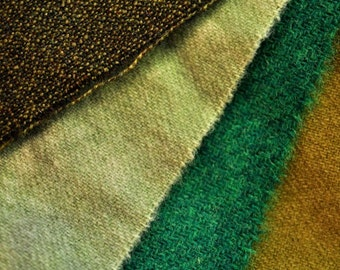 Wool Swatches - Green Grass