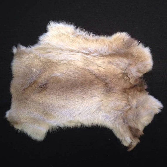 """Rabbit Pelt With """"Moose"""" Image Screen Printed One Side"""