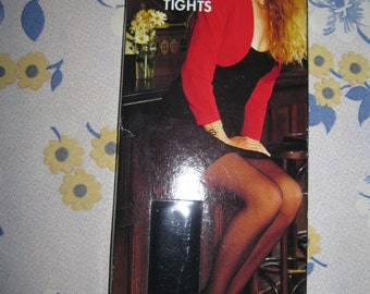 vintage large size  black fish net nylon tights