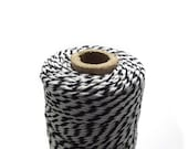 10 yards, Black Bakers Twine, Graphic, Modern, 4 Ply, Packaging, Gift Wrap, Craft Supplies, DIY, Black & White