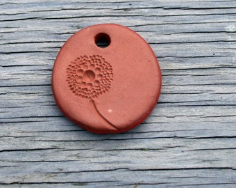 Handmade Ceramic Pendant / Terracotta Necklace / Essential Oil Necklace/ Personal Diffuser