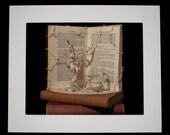 """Book Sculpture 'The Witches' Mounted 10"""" x 8"""" Photographic Print"""