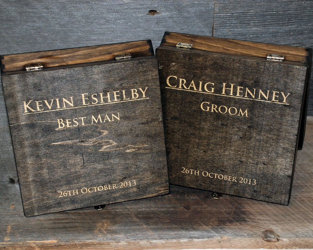 Groomsmen Gifts Laser Engraved Cigar Boxes Personalized