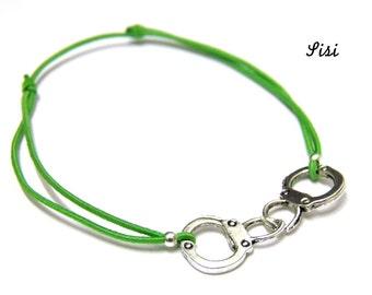 Bracelet green handcuff