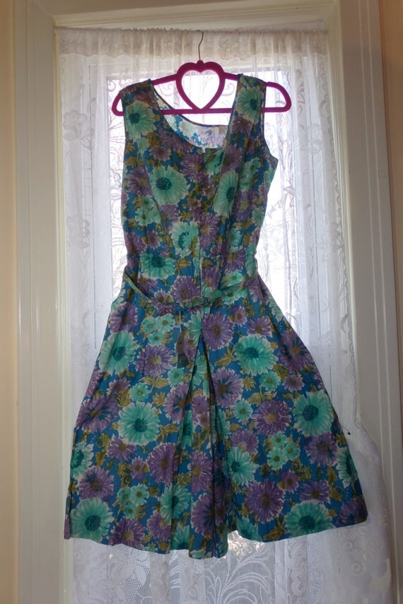 bountiful plus size 50s 60s floral scooter skirt dress