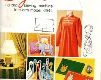 Singer Zig-Zag Free-Arm STYLIST 6544 ORIGINAL MANUAL 1979 Sewing Machine Instructions 1970s