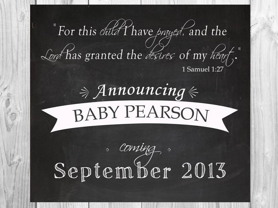 For this Child I have Prayed Chalkboard Printable file 1 – Free Baby Announcement
