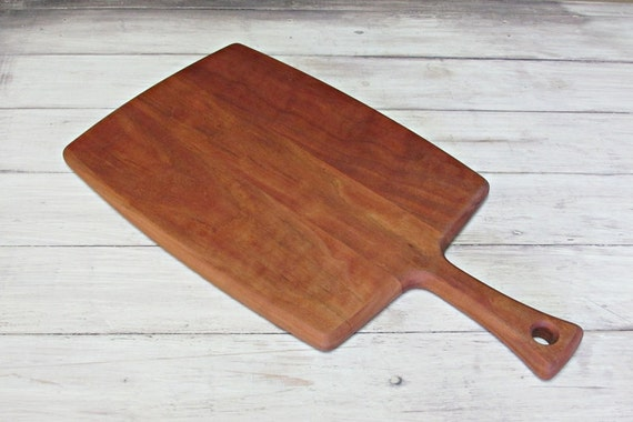 Cutting Board With Dovetail Handle Cherry Wood