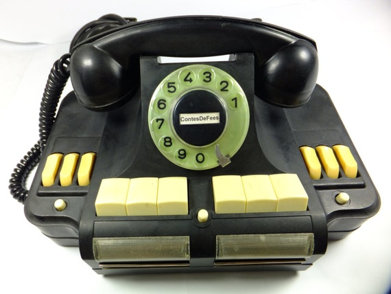 Black Dial Multiline Telephone Rotary Antique Soviet Model Telephone ...