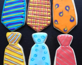 Fathers Day Tie Cookies