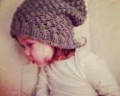 Raspberry Stitch Slouchy Hat