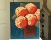 RUSTic - Original Acrylic Painting - Contemporary Urban Modern Rustic - Palette Knife Painting - Hydrangeas