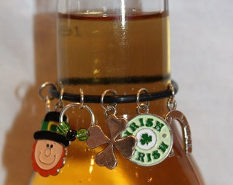 St. Patrick's Day Beer Charm St Patrick's Day Wine Charm Irish Charms