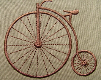 Old Bicycle Velocipede Embroidery Design Instant Download