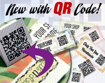 Custom Fabric Labels With QR Code –  Link to Any Information About Your Product or Business – Email – Videos– Instructions