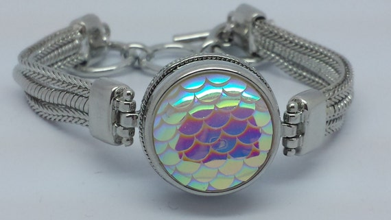 NOOSA Style Mermaid Scales Snap Charm Noosa Style Chunk ...