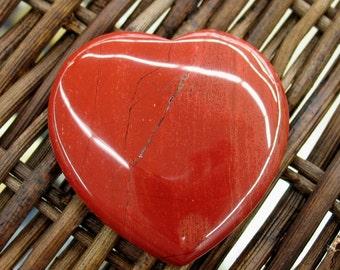 Red Jasper Flat Heart, 45 mm - Item 55140