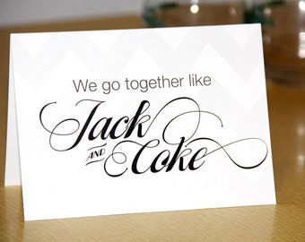 Valentine's Day Card Funny Jack and Coke