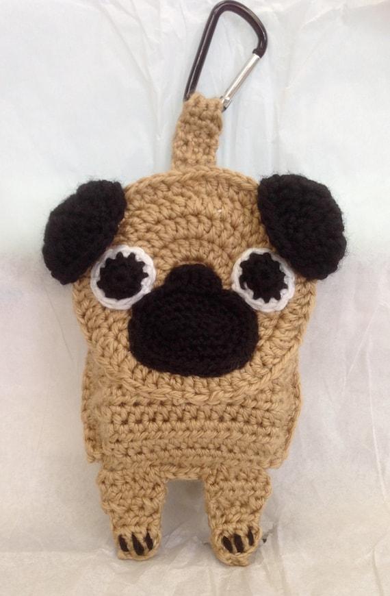 Items similar to Pug Poop Bag Holder on Etsy