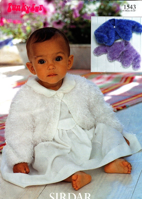 Sirdar Baby Knitting Patterns : 1543 Sirdar Knitting Pattern Baby Child Bolero 16-26