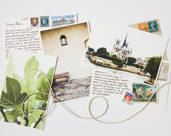 Personalized Postcard from Paris, Handwritten Postcard from Paris, Gift for Her, Gift for Traveler, Subscription Letter