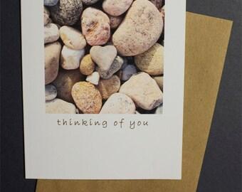 Heart Rock Note Card