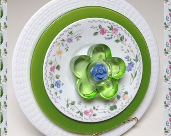 Flower Garden Art - Lunch Plate Size