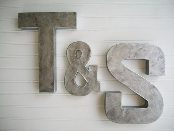 Items Similar To Painted Letter Wall Letters Zinc