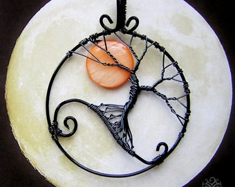 MADE TO ORDER: Nightmare Before Christmas Inspired Tree of Life Wire Wrapped Pendant Jewelry