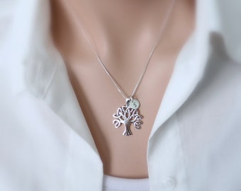 Personalized Sterling Silver Tree of Life Necklace