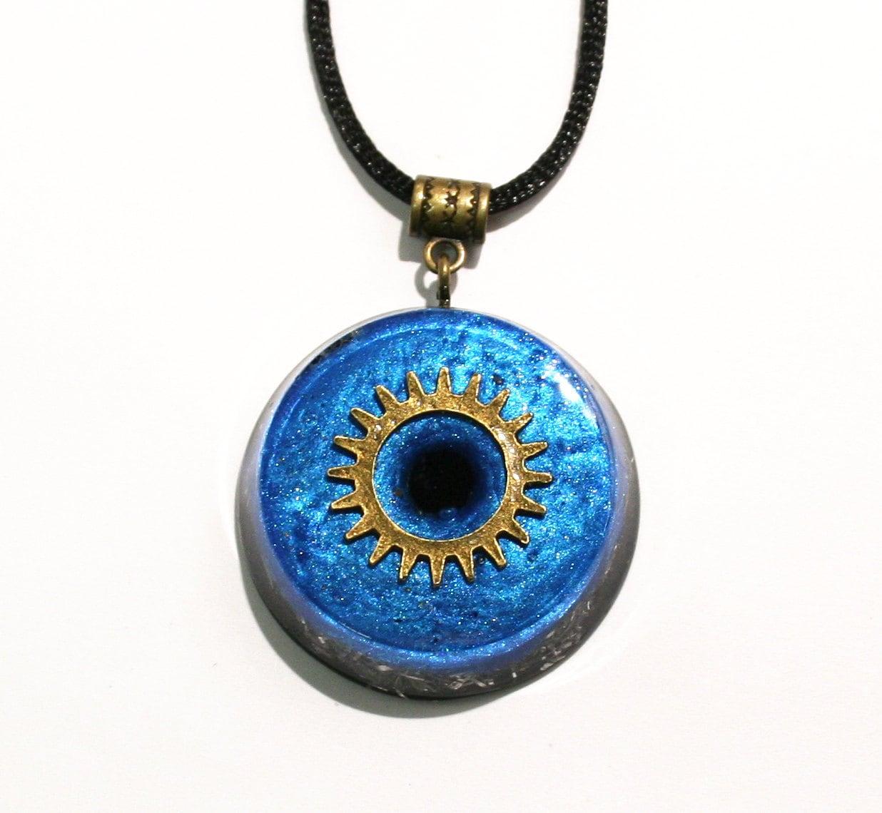 black tourmaline orgonite pendant necklace with ormus emf
