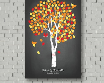 Guest Book Alternative -  Wedding Tree - Faux Chalkboard Wedding - Guest Book - Wedding Poster - Wedding Decor - Guestbook Print