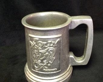 1960s Jolly Ox Pewter Mug