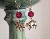 Pink Pig Earrings