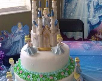 Frozen Castle Cake Topper Queen Elsa Princess Birthday Cinderella Castle Cake TopperWedding