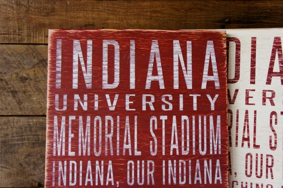 Indiana University Hoosiers Distressed Wood Sign--Great Father's Day Gift!