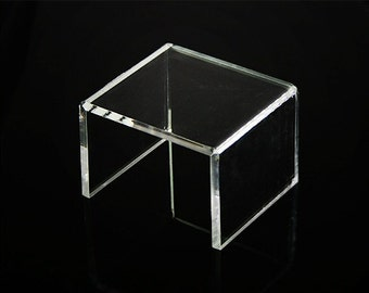 Free shipping_Small acrylic riser display stand B_Thick riser