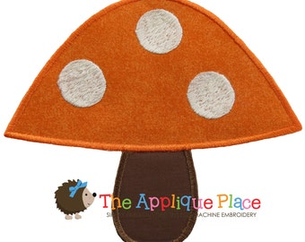 Toadstool Machine Embroidery Applique Design