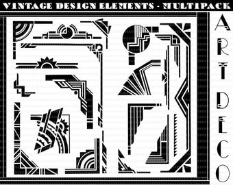 Art Deco Graphic Design Elements Art Deco Design Elements