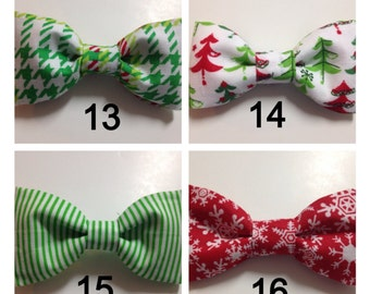 Christmas Holiday Winter Bow Tie Dog Collar Accessory