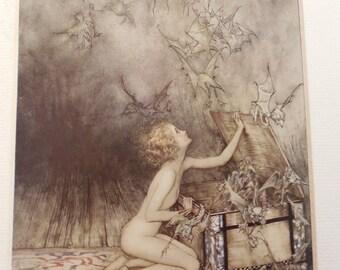 Arthur Rackham illustration from the Wonder Book by Hawhtorn, 1920. Famous illustrator of Edwardian books for children.