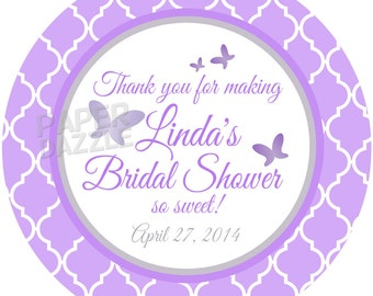 "Personalized Stickers  Wedding , Anniversary Personalized Labels Size 2.25"" Bridal Stickers"