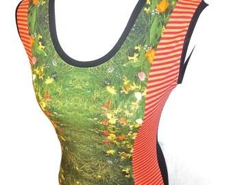 Ambient dress with round neckline with best regards Thomas Warzog my own print